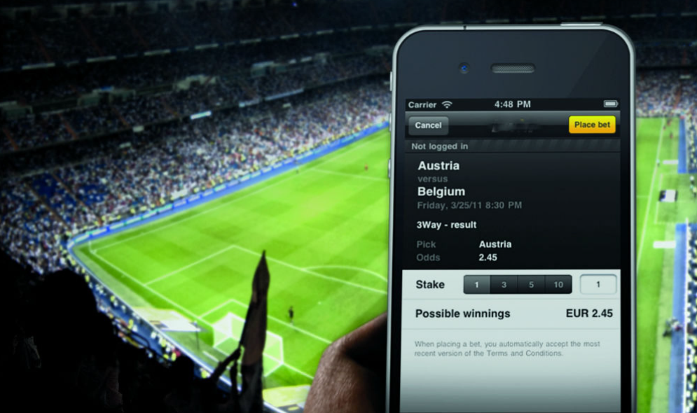 Making live bets during the match